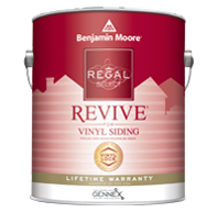 JERRY'S PAINT & WLP CENTER,INC Regal Select REVIVE is specially formulated for optimal performance on vinyl siding and trim, for a fresh look in a wide range of colors.boom