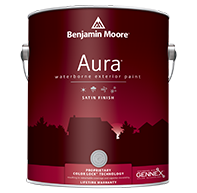 CLAYTON PAINT & FLOORING CENTER Aura Exterior with our exclusive Color Lock<sup>&reg;</sup> technology provides the ultimate performance for rich, full color and unprecedented durability.boom