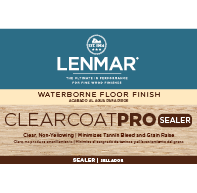 ClearCoat PRO Waterborne Floor Sealer - Clear