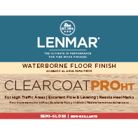 ClearCoat PRO HT Waterborne Floor Finish - Semi-Gloss