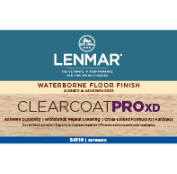 ClearCoat PRO XD Waterborne Floor Finish - Satin