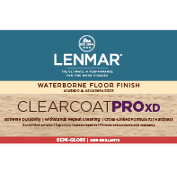 ClearCoat PRO XD Waterborne Floor Finish - Semi-Gloss