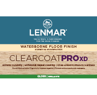 ClearCoat PRO XD Waterborne Floor Finish - Gloss