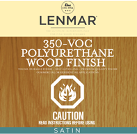 350 VOC Polyurethane Wood Floor Finish - Satin