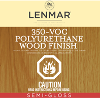 350 VOC Polyurethane Wood Floor Finish - Semi-Gloss