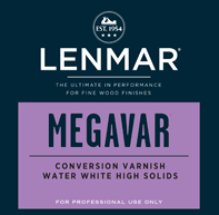 MegaVar® Plus High Solids Water White Conversion Varnish - Dull Rubbed