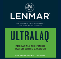 UltraLaq® Water White Precatalyzed Lacquer - Dull Rubbed