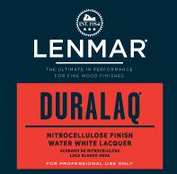 Picture of DuraLaq® Nitrocellulose Water White Lacquer - Gloss