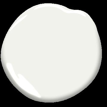 Benjamin Moore OC-57 White Heron paint swatch